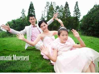 一家三口幸福图片 一家三口婚纱照幸福唯美婚纱照样片欣赏