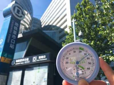 芍药居减肥 记者实测北京地铁站内外温度